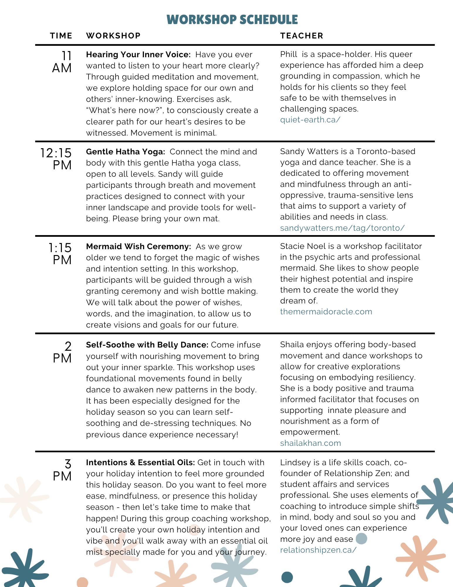 eventbrite schedule